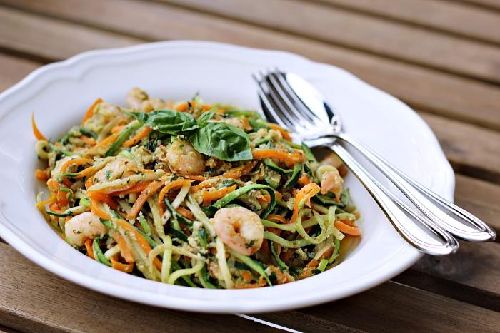 Zucchini karotten spaghetti