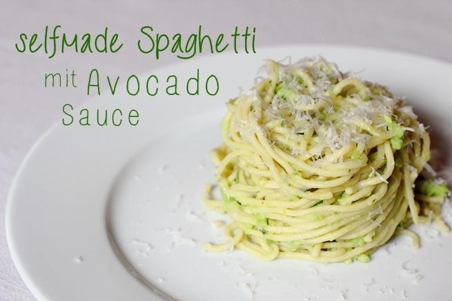 selfmade spaghetti mit avocado sauce eatbakelove. Black Bedroom Furniture Sets. Home Design Ideas
